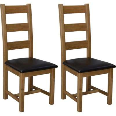 Homestyle Deluxe Oak Ladder Back Dining Chair