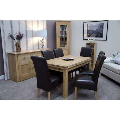 Homestyle Elegance Oak Small Draw Leaf Extending Dining Table