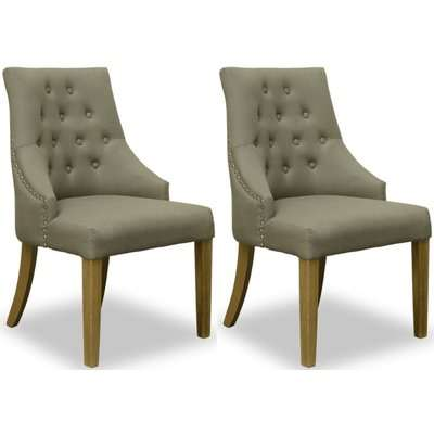 Homestyle GB Windsor Comfort Tufted Studded Dining Chair (Pair) - Fabric