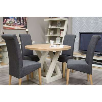 Homestyle HomeStyle GB Z Painted Round Dining Table - 105cm