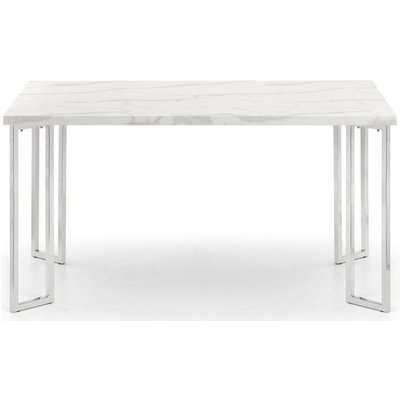 Julian Bowen Positano White Marble Dining Table