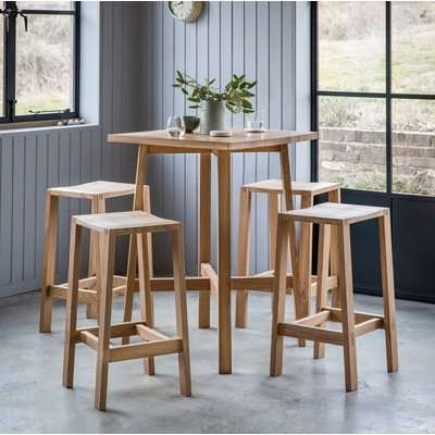 Hudson Living Kielder Oak Bar Table