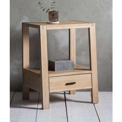 Hudson Living Kielder Oak Bedside Table