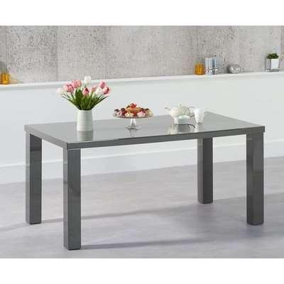 Mark Harris Ava Dark Grey High Gloss Rectangular Dining Table - 160cm
