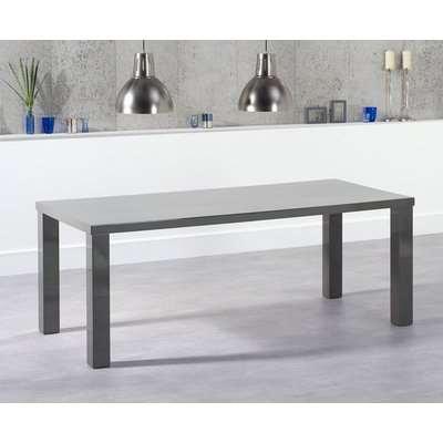 Mark Harris Ava Dark Grey High Gloss Rectangular Dining Table - 200cm