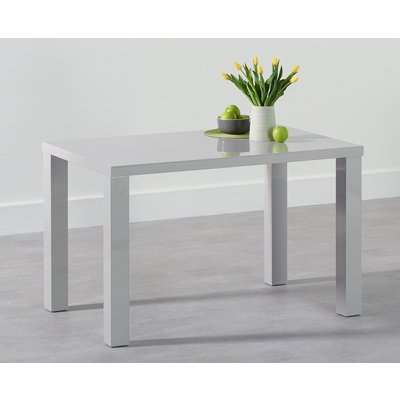 Mark Harris Ava Light Grey High Gloss Rectangular Dining Table - 160cm