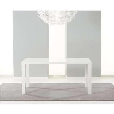 Mark Harris Ava White High Gloss 160cm Dining Table