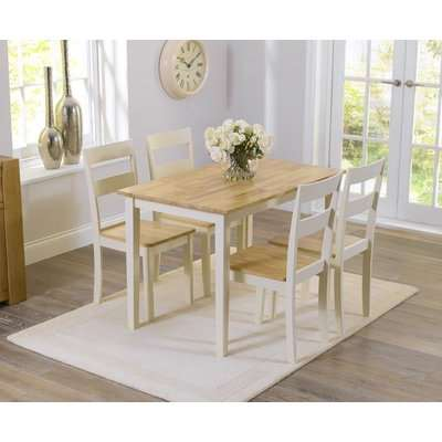 Mark Harris Chichester White Dining Table and 4 Chairs