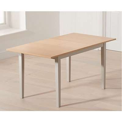 Mark Harris Chichester Solid Oak Hardwood and Grey Painted 120-150cm Rectangular Extending Dining Table