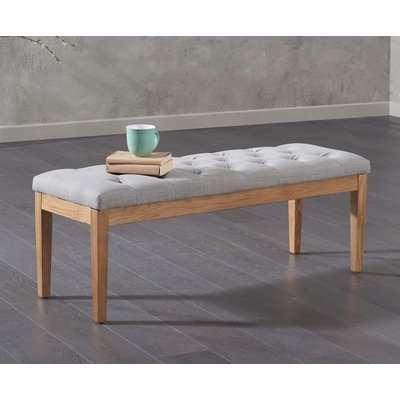 Mark Harris Courtney Grey Fabric Dining Bench - 120cm