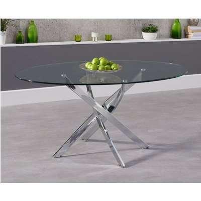 Mark Harris Daytona Glass Oval Dining Table - 165cm