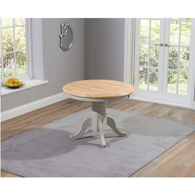 Mark Harris Elstree Oak and Grey 100cm Oval Extending Dining Table