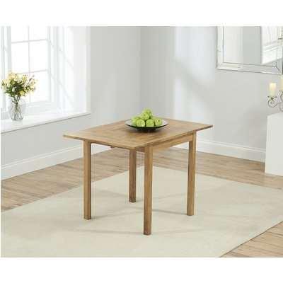 Mark Harris Promo Oak Drop Leaf Extending Dining Table