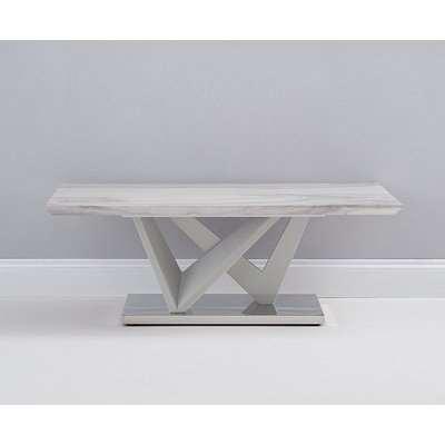 Mark Harris Rosario Light Grey High Gloss Marble Top Coffee Table