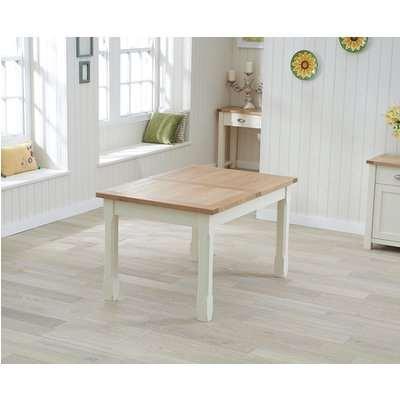 Mark Harris Sandringham Oak and Grey Painted 180-270cm Rectangular Extending Dining Table
