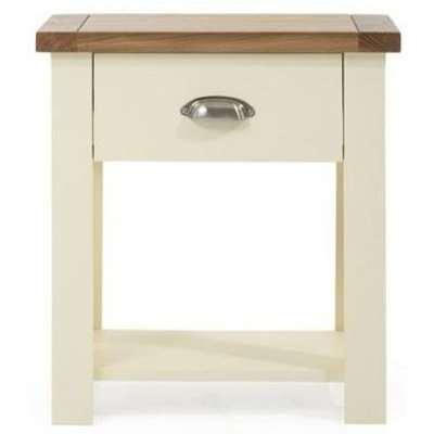Mark Harris Sandringham Oak and Cream Bedside Table