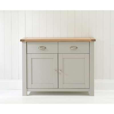 Mark Harris Sandringham Oak and Grey 2 Door 2 Drawer Narrow Sideboard