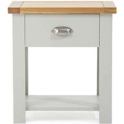 Mark Harris Sandringham Oak and Grey Bedside Table