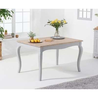 Mark Harris Sienna 130cm Grey Painted Dining Table