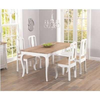 Mark Harris Sienna Shabby Chic 175cm Dining Set - 4 Chairs