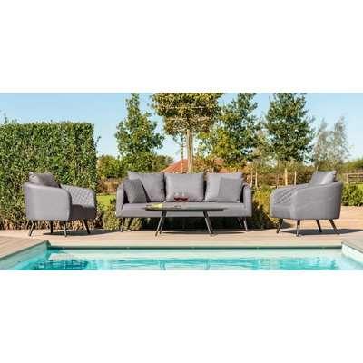 Maze Lounge Outdoor Ambition Flanelle Fabric 3 Seat Sofa Set