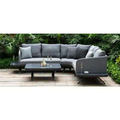 Maze Lounge Outdoor Cove Flanelle Fabric Corner Sofa Group
