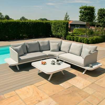 Maze Lounge Outdoor Cove Taupe Fabric Corner Sofa Group