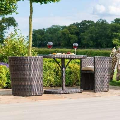 Maze Rattan Flat Weave Balcony Bistro Set