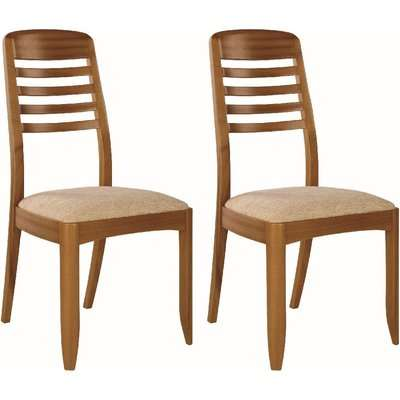 Nathan Classic Teak Ladder Back Dining Chair (Pair)