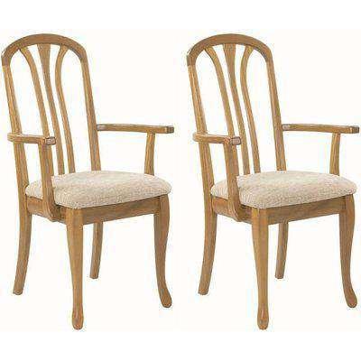 Nathan Trafalgar Arran Carver Slatted Back Dining Chair (Pair)