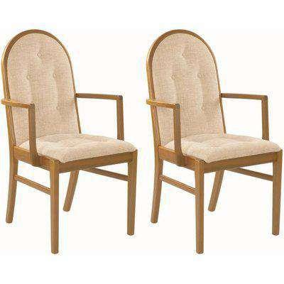 Nathan Trafalgar Droxford Carver Upholstered Dining Chair (Pair)