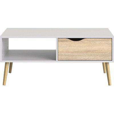 Oslo Storage Coffee Table - White and Oak