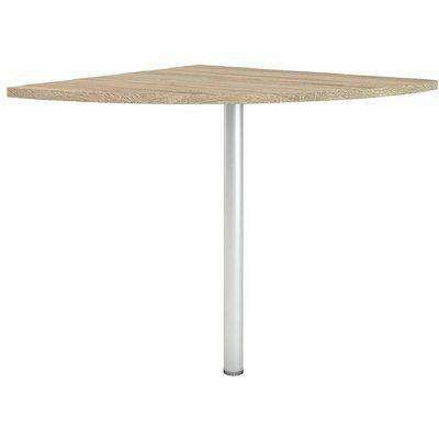 Prima Oak Corner Desk with Silver Leg