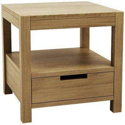Qualita Sims Oak Bedside Table