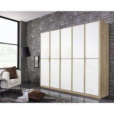 Rauch Essensa 5 Door Wardrobe in Oak and White - W 226cm