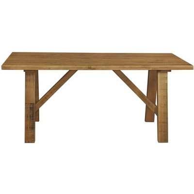 Regatta Rustic Pine Trestle Dining Table - 180cm