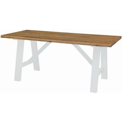Regatta White Painted Trestle 180cm Dining Table