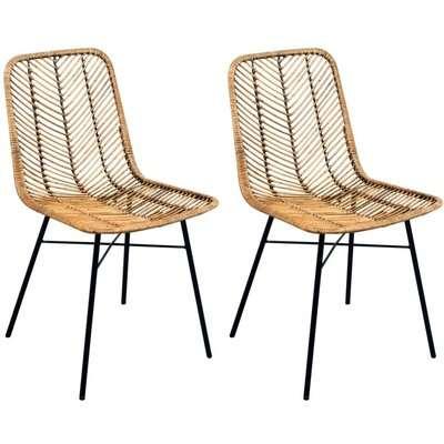 Rowico Maya Rattan Dining Chair (Pair) - Honey