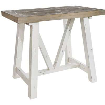 Rowico Purbeck Bar Table - Distressed White