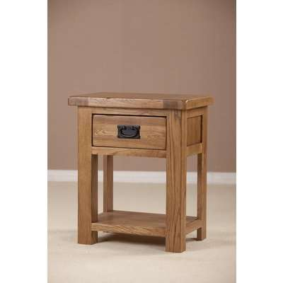 Rustic Oak Bedside Table - 1 Drawer