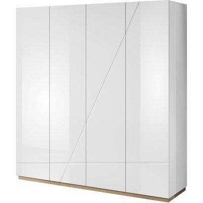 Sagu White Gloss 4 Door Wardrobe