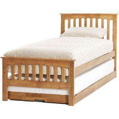 Serene Amelia Hevea Wood Honey Oak Guest Bed