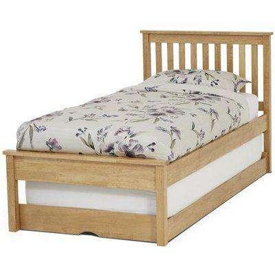 Serene Heather Hevea Wood Honey Oak Guest Bed