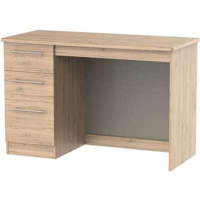 Sherwood Bordeaux Oak Desk - 3 Drawer