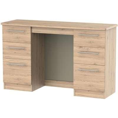 Sherwood Bordeaux Oak Dressing Table - Knee Hole Double Pedestal