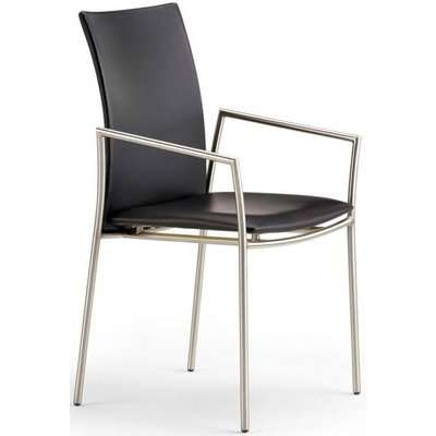 Skovby SM59 Steel Brushed Dining Chair