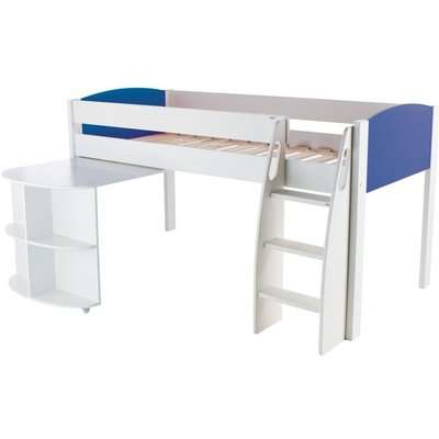 Stompa Mid Sleeper Blue with Pull Out Desk