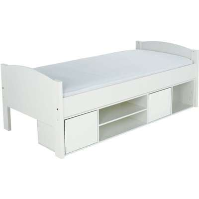 Stompa Storage Cabin Bed with White Headboard and Doors