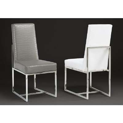 Stone International Greta Leather and Polished Steel Dining Chair (Pair)