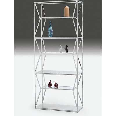 Stone International Ginza Etagere Marble Shelving Unit - Glass and Polished Stainless Steel